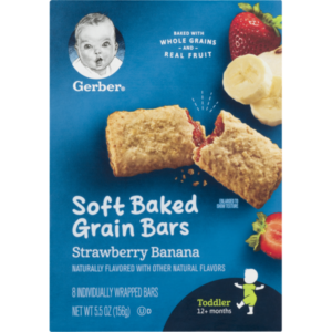 Gerber Graduates Cereal Bars Strawery Banana - 156 gm-0
