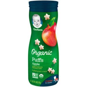 Gerber Organic Puffs Snacks Apple - 42gm-0