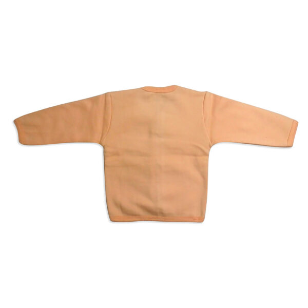 LIttle Darling Full Sleeves Fleece Vest - Peach-4081
