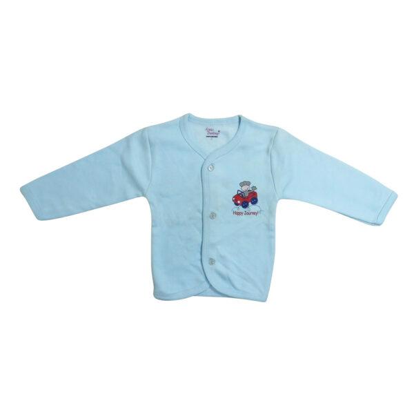 Moms Pet Full Sleeves Fleece Vest - Aqua-0