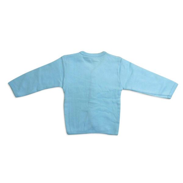 Moms Pet Full Sleeves Fleece Vest - Aqua-4083