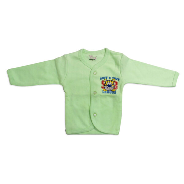 Little Darlings Full Sleeves Fleece Vest - Lime-0