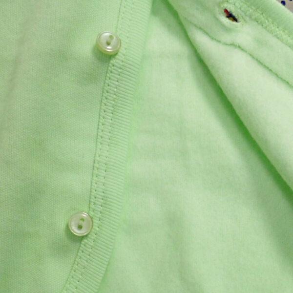 Little Darlings Full Sleeves Fleece Vest - Lime-4088