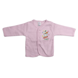 Pink Rabbit Full Sleeves Fleece Vest - Pink-0
