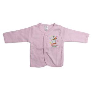 Pink Rabbit Full Sleeves Fleece Vest - Pink-0