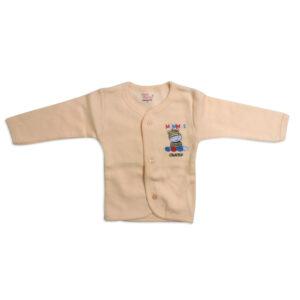 Little Darlings Full Sleeves Fleece Vest - Peach-0