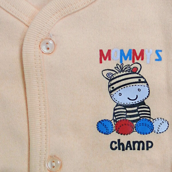 Little Darlings Full Sleeves Fleece Vest - Peach-4096
