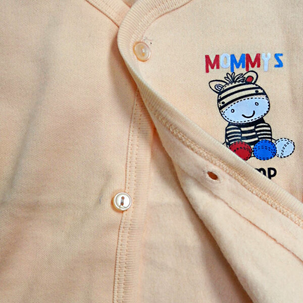Little Darlings Full Sleeves Fleece Vest - Peach-4098