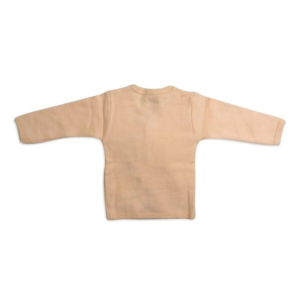 Little Darlings Full Sleeves Fleece Vest - Peach-4099