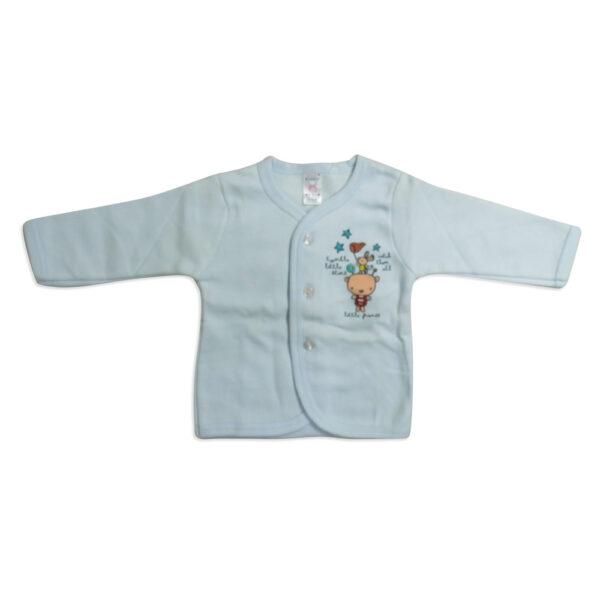 Pink Rabbit Full Slives Fleece Vest - Blue-4107