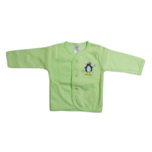 Little Darling Full Sleeeves Vest - Green-0