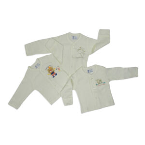 Pink Rabbit Full Sleeves Front Open Vest - Set Of 3-0