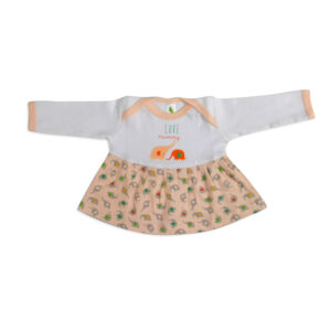 Cucumber Full Sleeves Frock - Peach-0