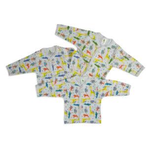 Cucumber New Born Full Sleeves Vest - Multi Print-0