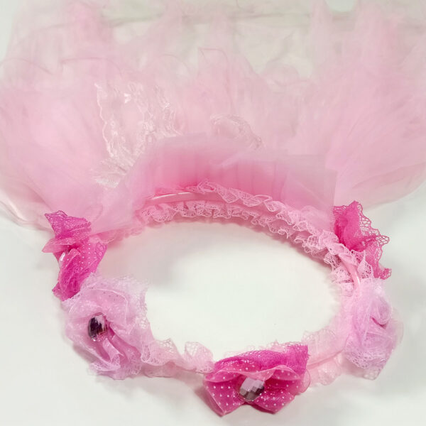 Flowerer Hair Band With Net-4792