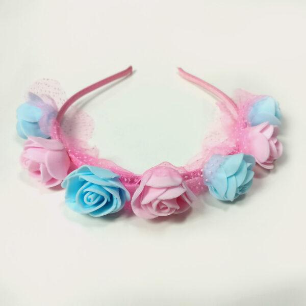 Babys World Flowerer Fancy Hair Band-Blue-4719