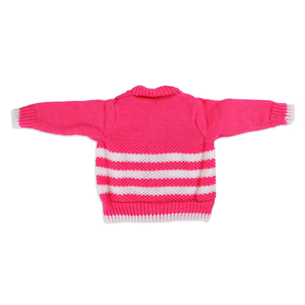 FULL SLEEVES SWEATER WITH KNIT CAPS & BOOTIES - Pink-4184