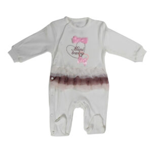 Mini Baby Full Sleeves Fancy Footed Romper - White-0