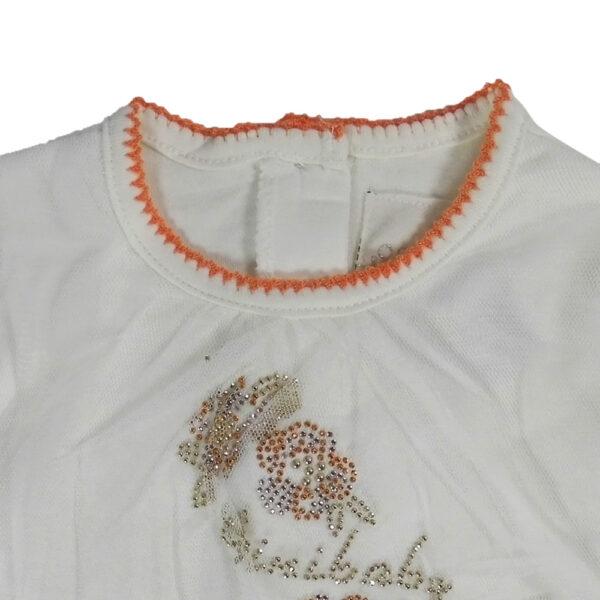 Mini Baby Full Sleeves Back Open Romper - White-4650