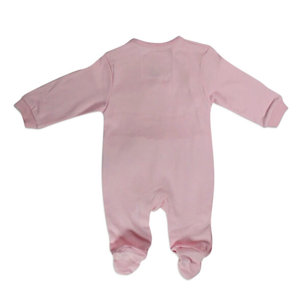 Mini Baby Full Sleeves Footed Romper - Pink-4646