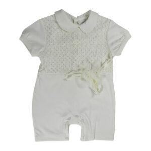 Mini Baby Half Sleeves Romper - White-0