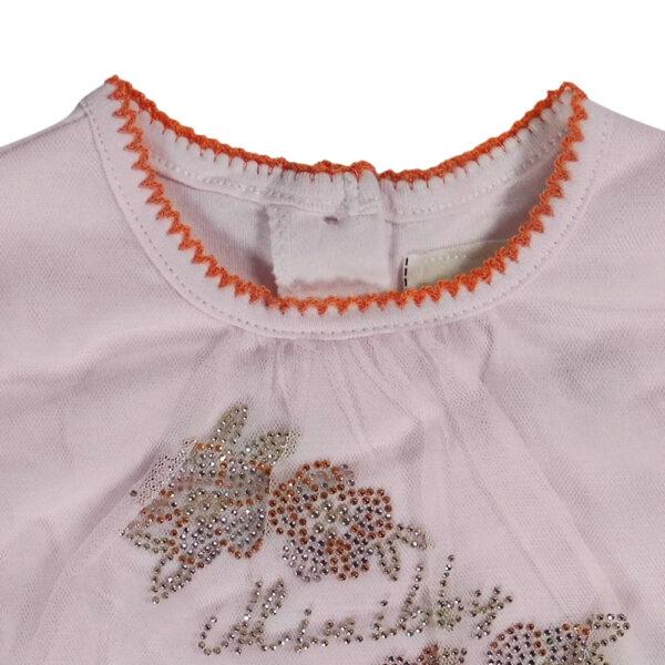 Mini Baby Full Sleeve Fancy Romper - Off Pink-4654