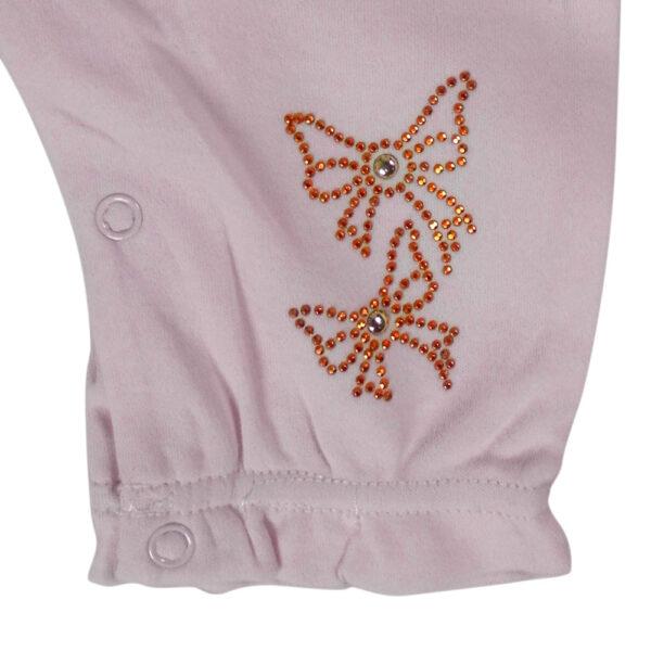 Mini Baby Full Sleeve Fancy Romper - Off Pink-4657