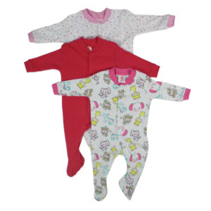 Mini Berry Footed Romper Set of 3 - White & Red-0