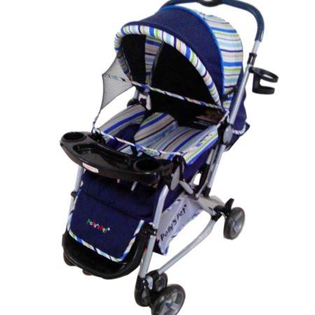 Pollys Pet Baby Rocker Cum Stroller 3051 - Blue-0