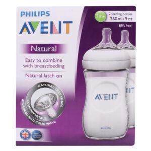 Avent Natural Feeding Bottle Pack Of 2 - 260 ml-0