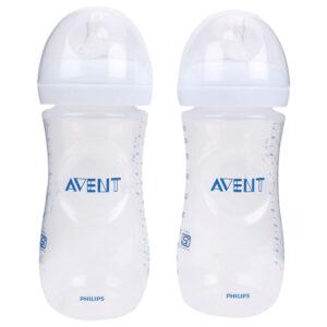 Avent Plastic Natural Feeding Bottle Pack Of 2 - 330 ml-0
