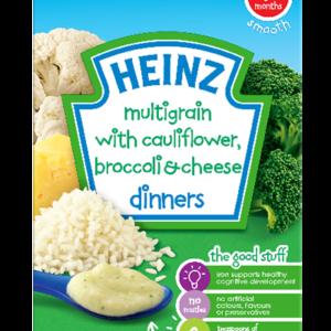 Heinz Multigrain with Cauliflower Broccoli & Cheese Dinners (4M+) - 125gm-0