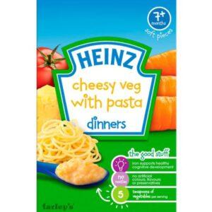 Heinz Cheesy Veg with Pasta Dinners (7M+) - 100 gm -0