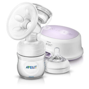 Avent Single Electric Natural Breast Pump With PP Storage Cup-0