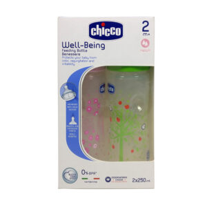 Chicco Well Being Feeding Bottle Benesere 250ml (pink/green)-0