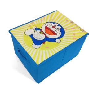 Rectangle Shape Foldable Storage Box - Blue-0
