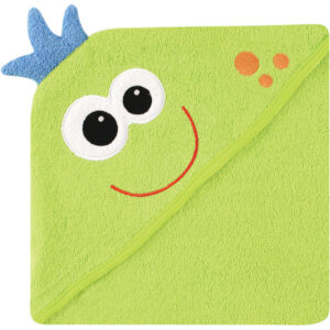 Luvable Friends Hooded Towel with Embroidery - Monster-0