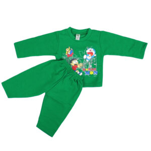 Cucumber Fleece Top And Bottom Set - Green-0