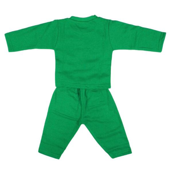 Cucumber Fleece Top And Bottom Set - Green-5026