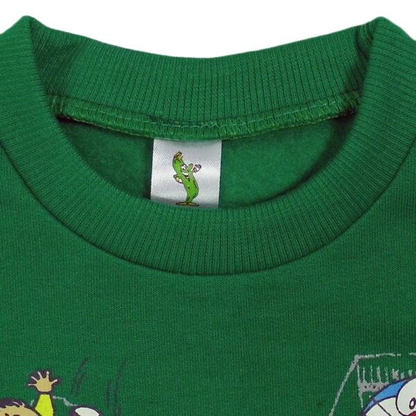 Cucumber Fleece Top And Bottom Set - Green-5025