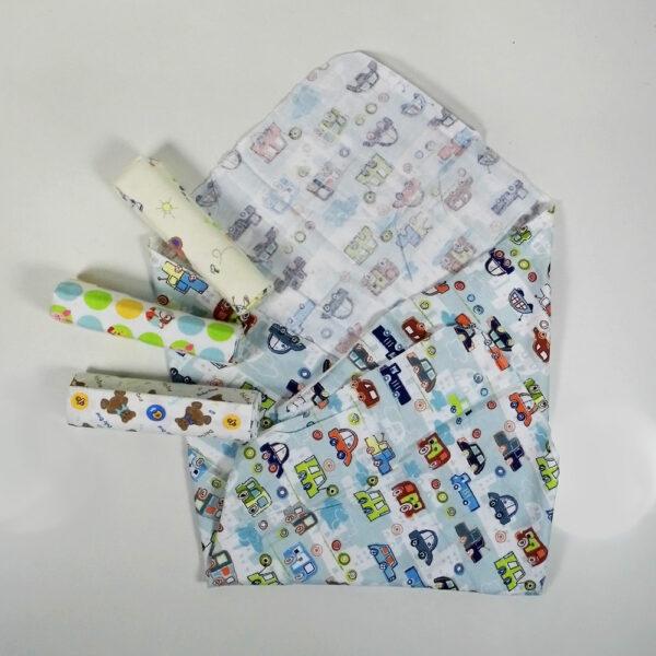 Cotton Multi Purpose Receiving Sheets - Set Of 4-5206