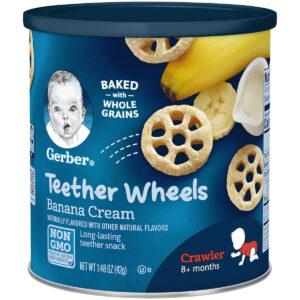 Gerber Graduates Teether Wheels Banana Cream (Crawler) - 42 gm-0