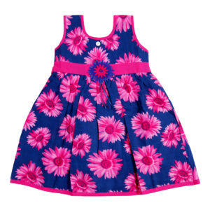 Cotton Frock Pink Flower Print-0