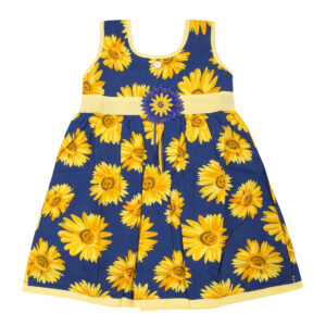 Cotton Frock - Yellow-0