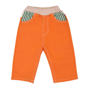 Pant cotton orange-0