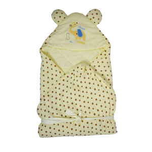 Eliphant Patch Quilted Wrapper - Cream-0
