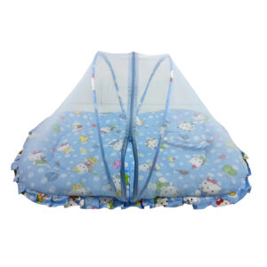 Center Zip Baby Mosquito Net With Mattress L - Blue-0