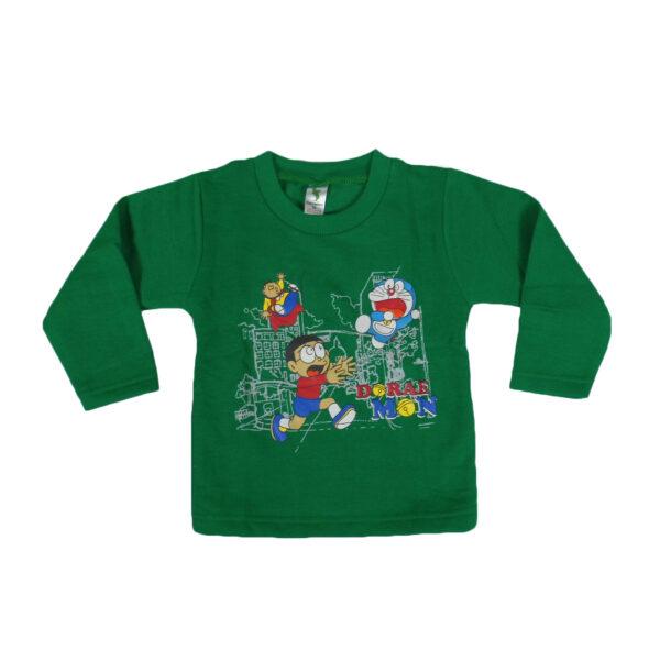 Cucumber Doraemon Print Full Sleeve T-Shirt-0