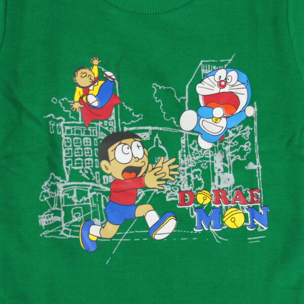Cucumber Doraemon Print Full Sleeve T-Shirt-5863