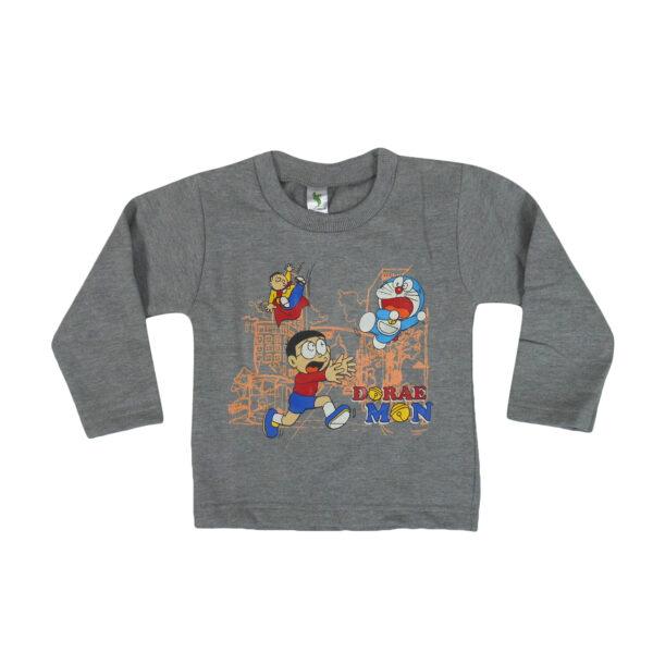 Cucumber Doraemon Print Full Sleeve T-Shirt-5864